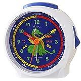 Ravel Reloj despertador infantil con diseño de dragón blanco