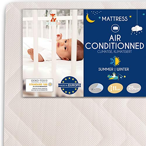 Sweety Fox - Babymatratze 70x140 - Made in Europa - Babybett und Kinderbett - Wendbar mit Sommer und...