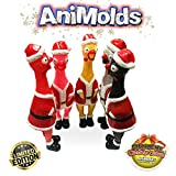 Flash Sales ANIMOLDS Squeeze Me Christmas Chicken- Hilarious Screaming Rubber Chicken Toy for Kids Novelty Squeaky Toy | The Perfect Stocking Stuffers for Kids and Adults! (Random Color)