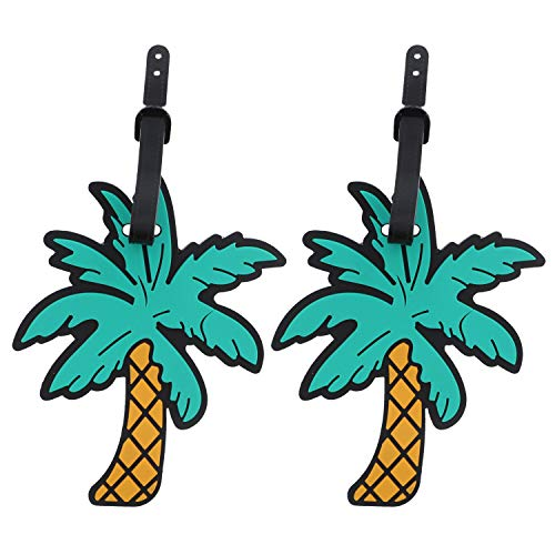 Summer Vacation Luggage Tag Suitcase ID - Set of 2 - Palm Tree