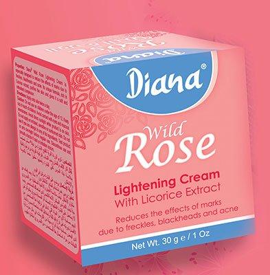 Diana, crema di bellezza Wild Rose, 30 g, prodotta da Elysee Star, riduce le imperfezioni, i punti neri,le lentiggini e l'acne