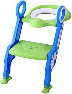 Eazy Kids Step Stool Foldable Potty Trainer Seat Green, Pack of 1