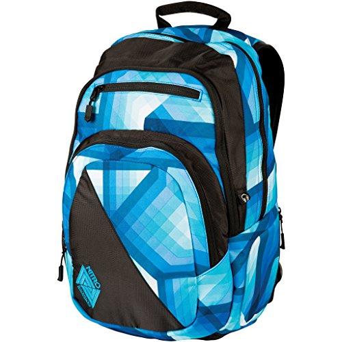 Nitro Stash Rucksack Schulrucksack Schoolbag Daypack Damenrucksack Schultasche schöne Rucksäcke Alltag Fahrradtasche, Geo Ocean, 29L