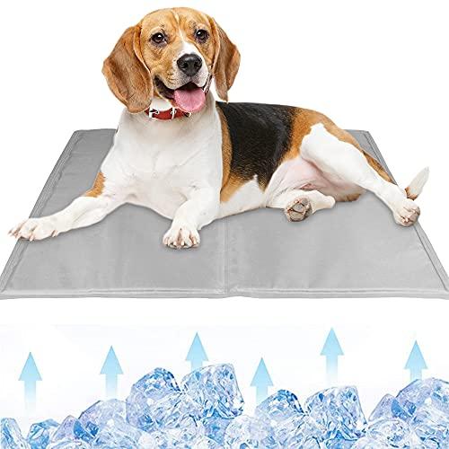 MMTX Alfombrilla Refrigeración para Perro Esterilla Refrigerante Mascotas No tóxico Autoenfriamiento Refrigerante Alfombra de Gel para Perros Gatos Dormir Computadora Portátil Almohadas Verano Gris