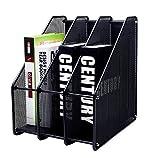 EXERZ Revistero archivador triple de malla metálica/Archivadores de revistas/Estante para...