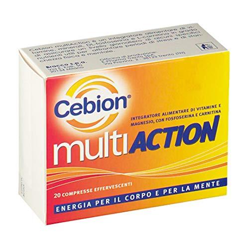 Cebion Multiaction 20 Compresse Effervescenti - Integratore di Vitamine e Minerali