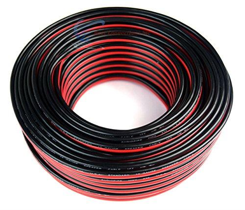 22 Gauge 250 Feet Red Black Speaker Wire Stranded Copper Clad CCA Car Home Audio
