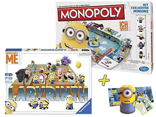 Die Minions Spiele-Set (Monopoly + Das verrückte Labyrinth)