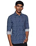 US Polo Association Men\s Solid Regular fit Casual Shirt (UDSH0409_Navy L)