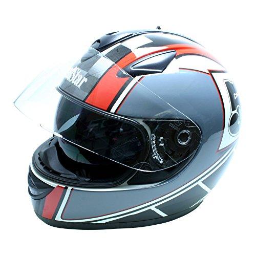 Roadstar Integral-Helm Phantom Racer, Rot/Schwarz/Grau, Größe 57/58