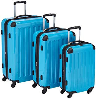 HAUPTSTADTKOFFER - Alex - Set of 3 Hard-side Luggages Trolley Suitces Expandable, (S, M & L), cyanblue (B0055S6PG0) | Amazon price tracker / tracking, Amazon price history charts, Amazon price watches, Amazon price drop alerts