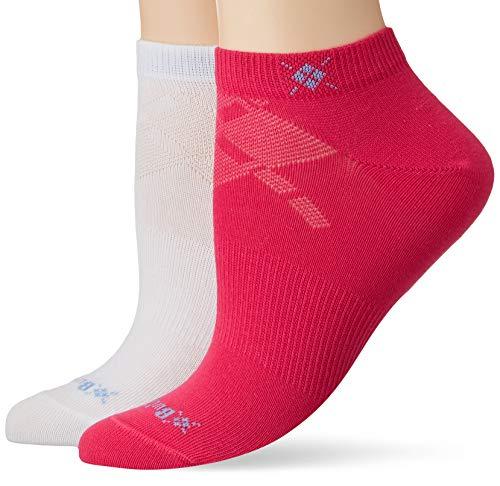 BURLINGTON Damen Sneakersocken Everyday 2-Pack - Baumwollmischung, 2 Paar, Rosa (Fuchsia 8856), Größe: 36-41