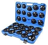 KFZTEILESCHNELLVERSAND24 31 TLG. Ölfilterschlüssel Kfz Set zum lösen und festziehen von Ölfilterkartuschen inkl. Koffer