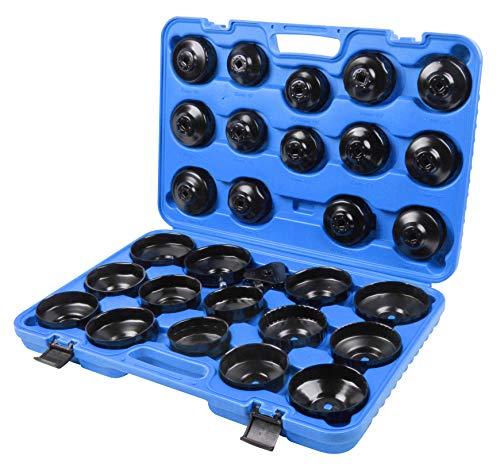 Aceite 31 piezas coche Juego para desatornillar y apriete de ölfilterkartuschen Incluye maletín compatible con BMW