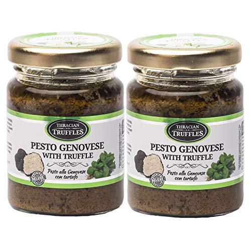 Pesto genovese met zwarte truffel Basilicum pesto met cashew, pijnboompitten, kaas, romige en aromatische truffel pesto…