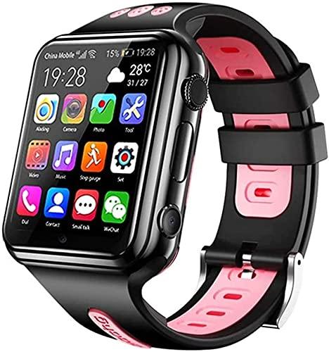 Aorsher 4G Kinder Smart Uhr Telefon Für Jungen Mädchen, IP67 wasserdichte Uhren Mit GPS-Tracker, Dual-Kameras, 2-Way-Anruf, SOS, Wecker, Taschenlampe Für Kinder Geburtstagsgeschenk,Schwarz