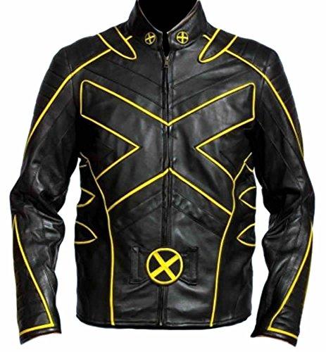 Classyak Xmen - Giacca in pelle da uomo Colore: nero. XS