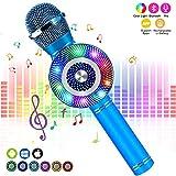FISHOAKY Karaoke Microphone for kids [Updated], Kids Wireless Bluetooth Karaoke Machine Portable Mic