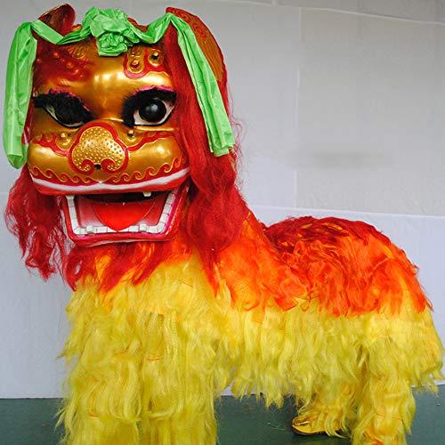 HGFDSA Juguete De Baile De Dragón De Año Nuevo Chino, Baile De León Chino para El Carnaval, Marionetas De Dragón León,Oro