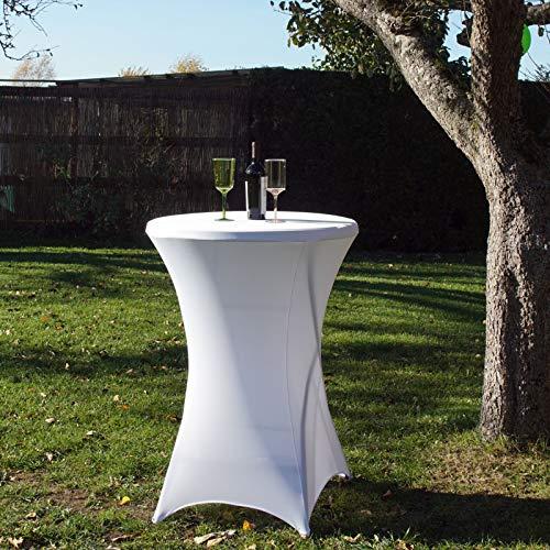 Baumarktplus TrutzHolm® 1 Stück Tischdecke Husse Partytisch Bistrotisch Stehtischhusse Decke 80 cm