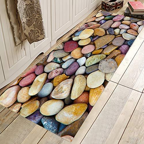 Alfombras de cocina con estampado escénico 3D, alfombrilla antideslizante para alfombras de puerta de piso, alfombras de cocina de pasillo, alfombrilla antideslizante para dormitorio A24 50x160cm