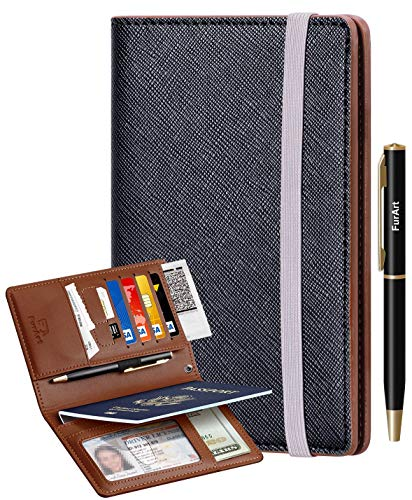 Passport Holder Cover , FurArt Passport Wallet Case for Men&Women ,RFID Blocking ,Compact Size