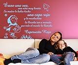 Vinilos decorativos de caperucita roja 160x120 cms Azul Cielo