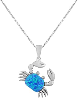 marine opal pendant