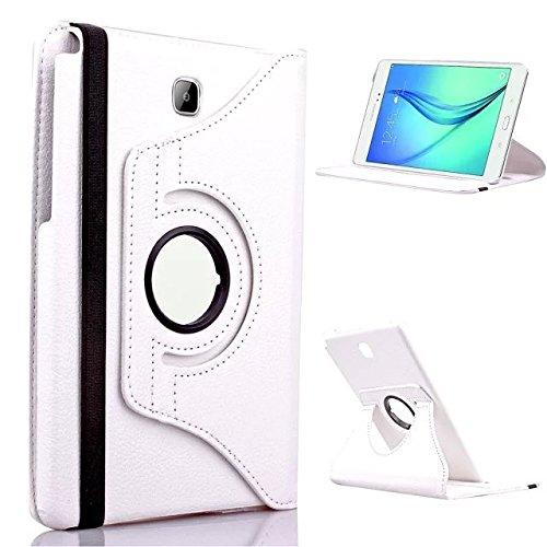GlobalShop2016 &apos 360Degree Rotating Tablet Case for Samsung Galaxy Tab 8.0sm-t350T355 Funda white
