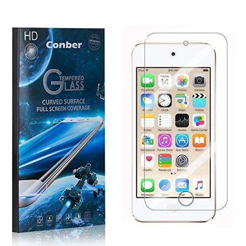 Conber [1 Pièces] Verre Trempé pour iPod Touch 6th Generation, [9H Dureté][sans Bulles][Haut Définition] Ultra-résistant Film de Protection écran pour iPod Touch 6th Generation