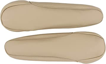 NewYall Set of 2 Beige Leather Seat Armrest Covers