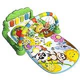 Gimnasio para Bebés con 5 Juguetes Colgantes Desmontable Almohadilla De Juego para Gatear para Bebés Portátil Juguete De Manta De Entrenamiento Sensorial para Bebés para Niños De 3 A 12 Meses