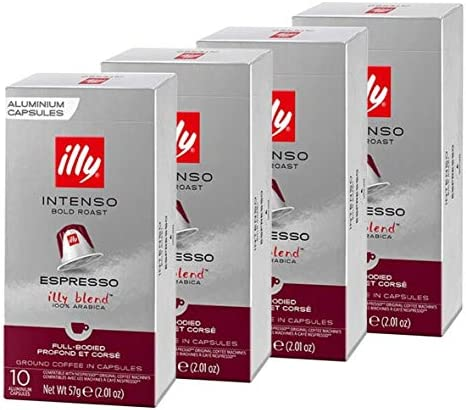 illy Espresso Intenso Coffee Bold Roast 40 Count Single Serve Capsules Compatible with Nespresso product image