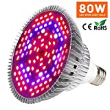 Led Grow Light Bulb, 100W Plant Lights Full Spectrum for Indoor Plants Hydroponics, Led Plants Bulbs for Flowers Tobacco Garden Greenhouse and Organic Soil(E27, 150LEDs)
