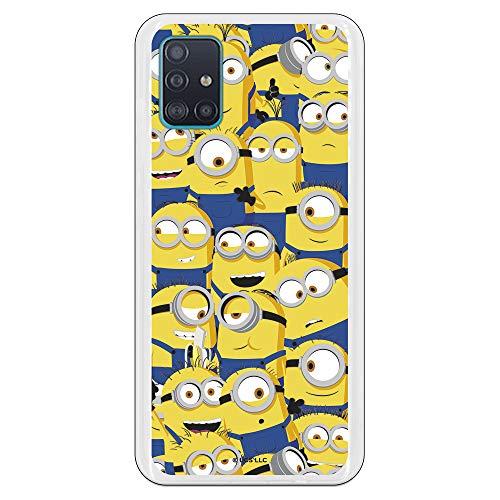 Funda para Samsung Galaxy A51 Oficial de Los Minions Los Minions Caras para Proteger tu móvil. Carcasa para Samsung de Silicona Flexible con Licencia Oficial de Universal.