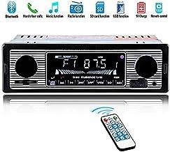 HERCHR - Reproductor de Radio de Coche Bluetooth con Doble