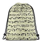 Jennsala Mochila con cordón cuneiforme babilónico para Bolsa de Gimnasia Unisex 36 x 43 cm / 14 x 17 Pulgadas