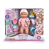 Nenuco - Sara, muñeca 11 funciones interactivas: cierra los ojos, come papilla, bebe biberón, hace babitas, pipí en orinal, popó en pañal, llora, se baña, se mueve y huele a bebé. FAMOSA (700015154)