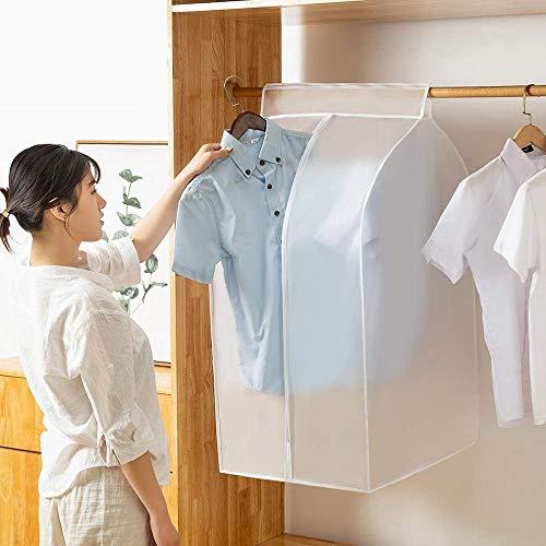 Qisiewell Kleidersack Groß (L 60x50x90cm) Kleiderhülle Anzughülle - Langzeitaufbewahrung Von Jacke Mantel Kleider Anzug Schutz Vor Staub Schäden Durchsichtig