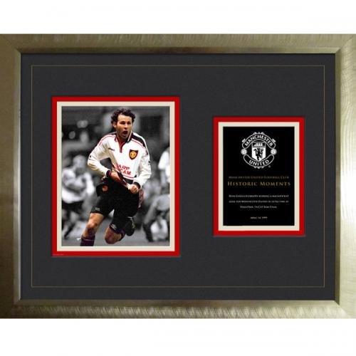 Manchester United Historic Moments Giggs zum Sammeln/montiert Premium gerahmt 40x 50cm