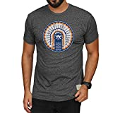 Elite Fan Shop Illinois Fighting Illini Retro Tshirt Charcoal - Small