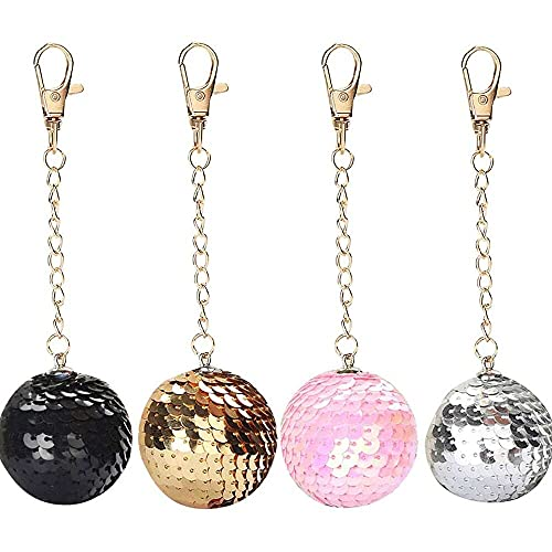 nanxing Keychain Accessories,Fashion Star Sequin Keychain Key Ring Ball Sequin Pendant Gift Keychain Cute Keychains