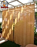 HIPPO Plastic Outdoor Loop Curtain with 80-85% Sun Blockage (Beige Brown, 4.5 X 7.5 ft) -2 Nos