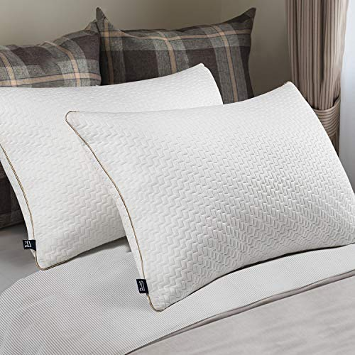 BedStory Bamboo Pillows Pack of 2, Pillows 2 Pack Hypoallergenic Anti-Dust...
