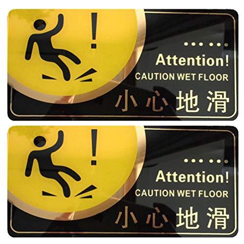 Cabilock 2 Stück Acryl Pool Anschlagtafel Mehrzweckschild Schwimmbad Wandaufkleber Anti-Rutsch-Schild Vorsicht Nassboden Schild für Laden Toilette Einkaufszentrum Pool