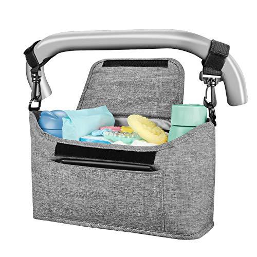 Yoofoss Kinderwagen Organizer Kinderwagentasche Multifunktionale und Praktische Aufbewahrungstasche Buggy Organizer Wickeltasche 33x11x17cm