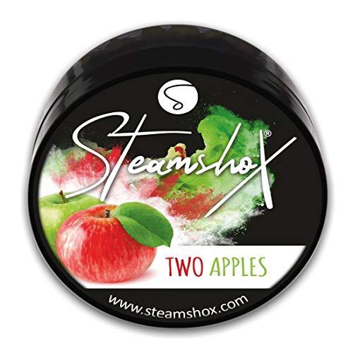 SteamshoX® Two Apples Dampfsteine 70 g - Shisha Steam Stones - nikotinfreier Tabakersatz für Wasserpfeifen