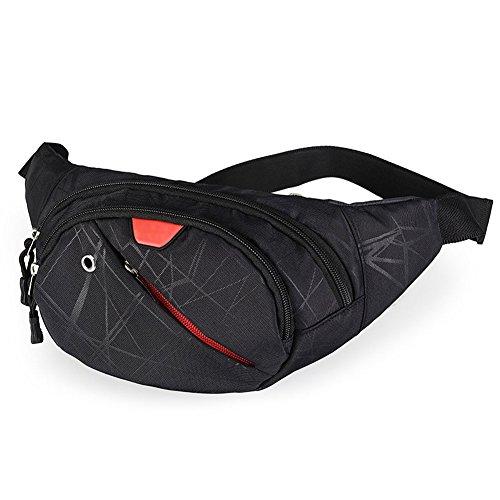 Bolsa de cintura casual Bolsos de mensajero de los hombres Bolsas para el pecho Bolsas de hombro Deportes Mujeres Aire libre Multi-Functional Walking Travel Riñoneras (Color : C)