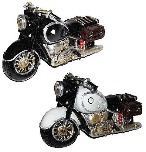 alles-meine.de GmbH Spardose Motorrad / Oldtimer - schwarz oder grau - stabile Sparbüchse aus Kunstharz - Bike / Biker / Fahrzeug Old Style - Fahrschule - Geld Sparschwein / Fahr..