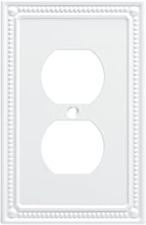 Franklin Brass W35059-PW-C Classic Beaded Single Duplex Wall Plate/Switch Plate/Cover, White